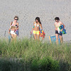 Casey, Rachel & Amber coming off of the beach.
