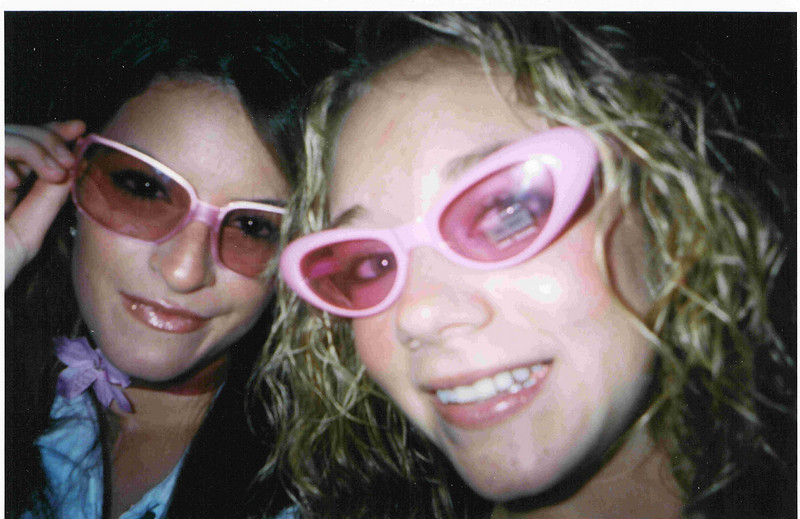 Amber and Casey with pink sunglasses, of course!