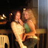 Amber and Casey hanging out on the front deck.