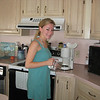 7-12-09 -  Casey in her normal routine upon awakening, making coffee. I thought that Casey looked so lovely for just waking up and wanted to capture her in a photo. Amber was enroute to the shore house at this point and the girls and Carlton went on the beach that afternoon.