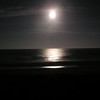 Moonlight over the ocean from our deck