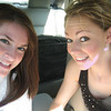 6-10-06 Amber & Casey in the car on the way to the shore.