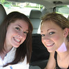 6-10-06  (4:50 p.m.) - Amber & Casey in the car on the way to the shore.
