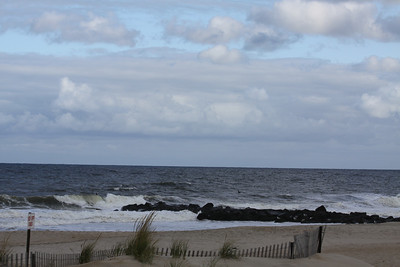 Sea Girt surfers...broader view...look out for that jetty!