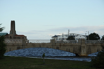 Foreground - footbridge from Asbury Park (left) to Ocean Grove