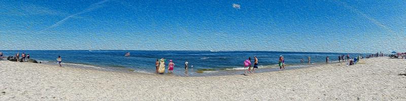 Beach Pano Paint