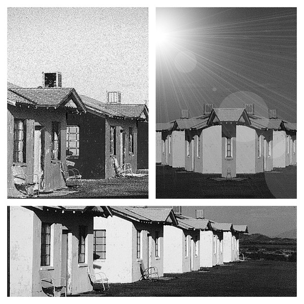 Three images of the same building....Roy's Motel, 1984