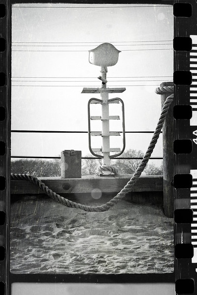 After Sandy...last chair standing at Ship Ahoy pool...