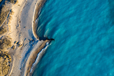 Beach at Point Betsie Aerial
