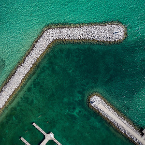 Suttons Bay Harbor Aerial
