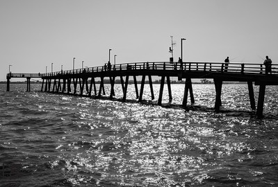 Late afternoon pier fishing