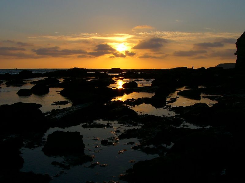 Sunset at low tide, Point Fermin.