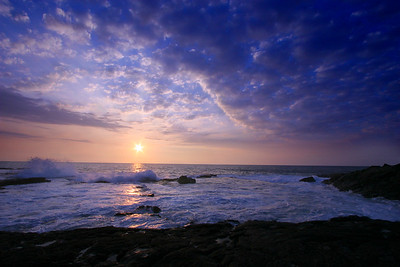 Sunset at Keahole Point, Big Island, Hawaii, Pacific
