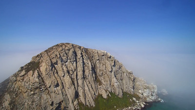 Morro Rock, and fog..  Morro Bay, CA.