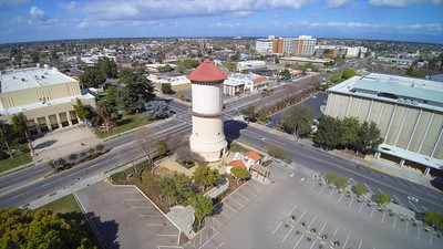 Water Tower Fly Over