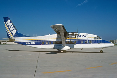 MVA (Mississippi Valley Airlines) Shorts SD3-60 N344MV (msn SH.3615) MKE (Bruce Drum). Image: 102749.