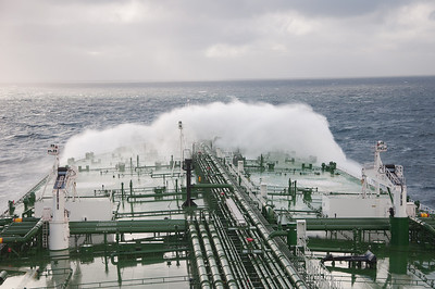 Shipping spray in the south china sea.salt/wind sun spells bad news for our pristine paint