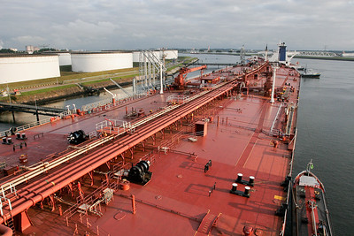 Discharging in Rotterdam,its such a big port we have nothing like it in the UK
