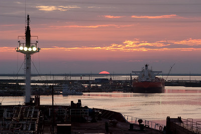 Sunset in Corpus christi,Gulf of Mexico