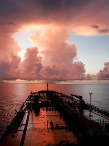 Dramatic skies in the Gulf of Mexico