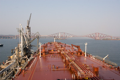 In 34 years at sea I have only been to the UK a handful of times so I was really chuffed when we got orders to load at Hound point on the Firth of Forth.Coming from Edinburgh this was my home port and I seem to have went to college with all the pilots. Loading here for Canada
