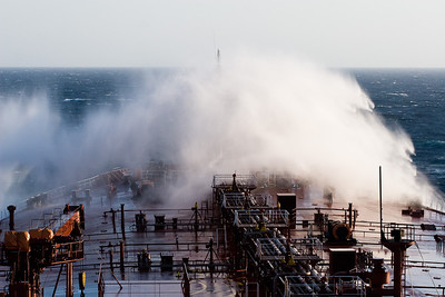 Shipping spray in the North Atlantic