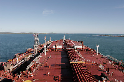 Discharging at Saldanha Bay,South Africa
