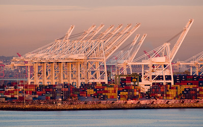 Container gantries at Long Beach