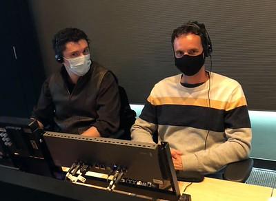 Gaelon & Marc behind the production desk