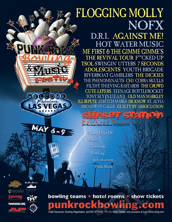 Punk Rock Bowling 2011 poster image graphic