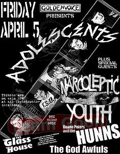 The Adolescents - Narcoleptic Youth - The Hunns - The God Awfuls - at The Glass House - Pomona, CA