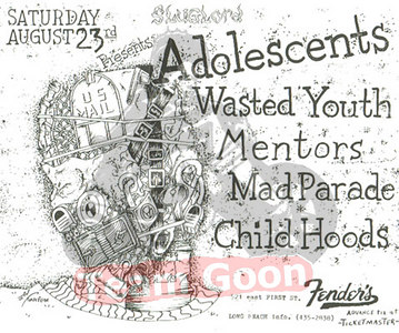 The Adolescents - Wasted Youth - The Mentors - Mad Parade - Child Hoods - Fenders Ballroom - Long Beach, CA