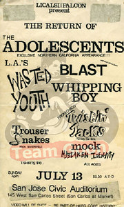The Adolescents - Wasted Youth - Blast - Whipping Boy