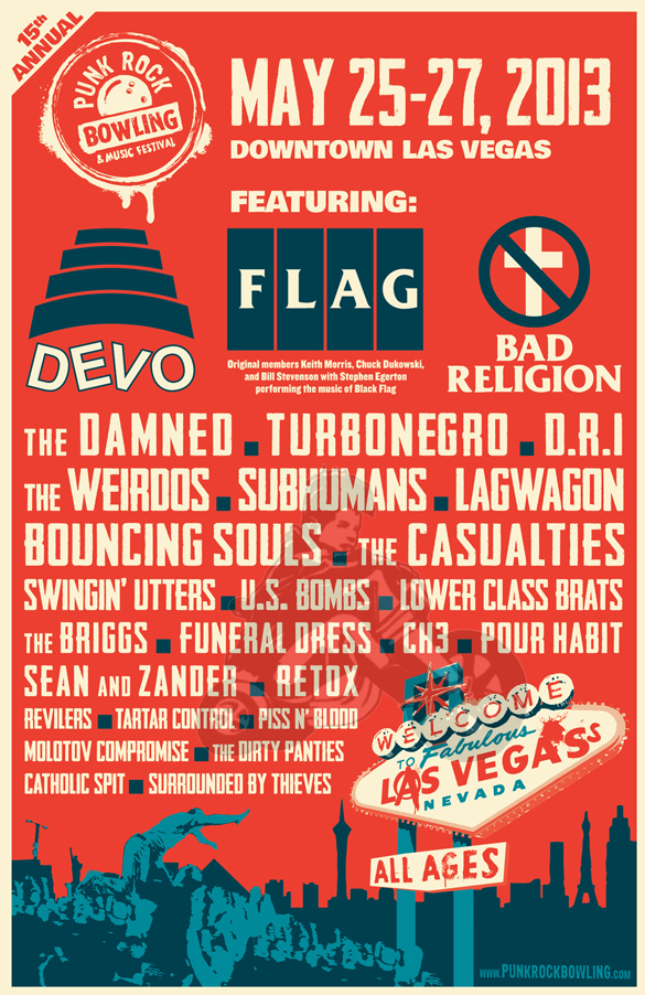 2013 Punk Rock Bowling poster line up