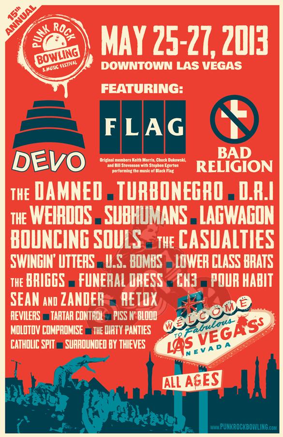 2013 Punk Rock Bowling poster line up
