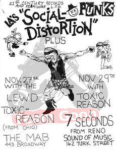 Social Distortion - 7 Seconds - Lewd - Toxic Reasons