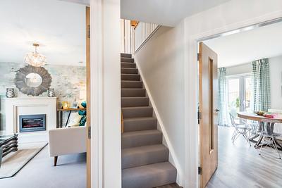 Interior and exterior architectural show home photography of Cala Homes Liberton Grange development in Edinburgh