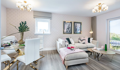 Cala Homes - Waterfront Plaza - show home interior photography