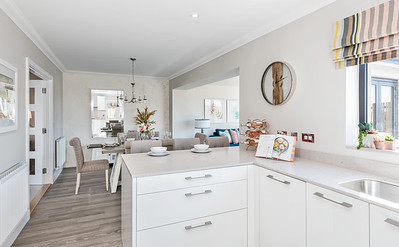 Interior architectural photography of The Oak showhome at Dandara Barley Brae development in North Berwick