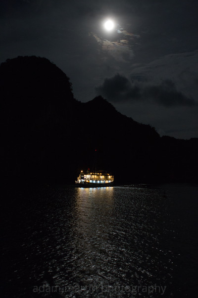 Full moon Halong Bay 2. Vietnam