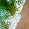 Wave Action on Tallow Beach, New South Wales, Australia