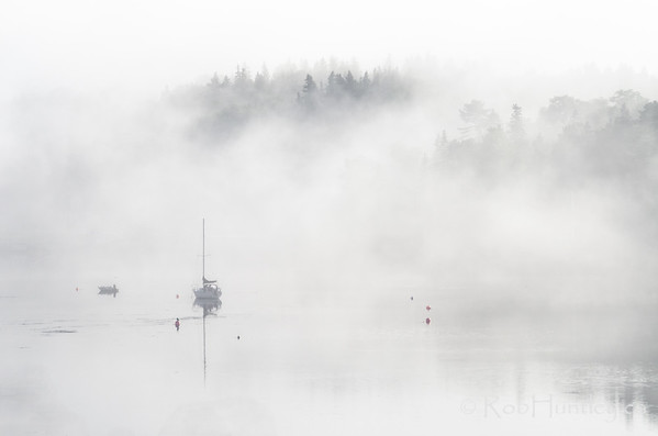 Boats in the Mist 3, Tantallon, NS