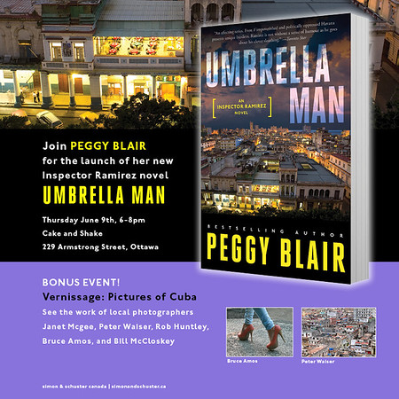Umbrella Man by Peggy Blair. Book launch and photography exhibit.