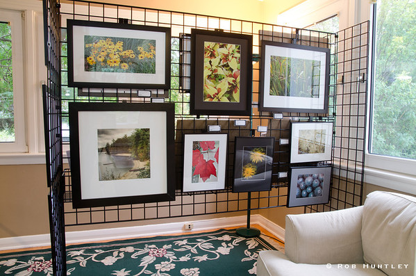 WEST 2012 display.   Photograph of part of my display gallery during the West End Studio Tour this year.  The exhibition is over but you can view the images that were framed and hanging on my walls and racks in this gallery on my website.  © Rob Huntley 2012