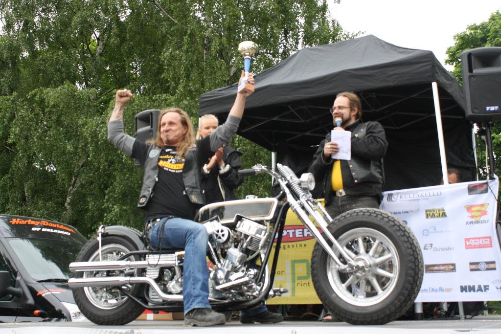 Custom -luokan 1. sija: Sami Lahtinen (Ohno Mc Jyväskylä) - Panhead