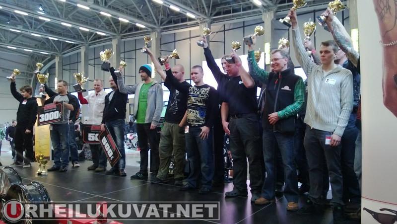 MP13 Petrol Circus rakennettujen ja muunneltujen moottoripyörien eri luokkien voittajat