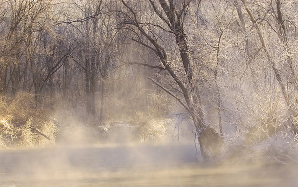 Winter Mist on the Cuyahoga River