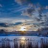 Indigo Lake Winter Sunset