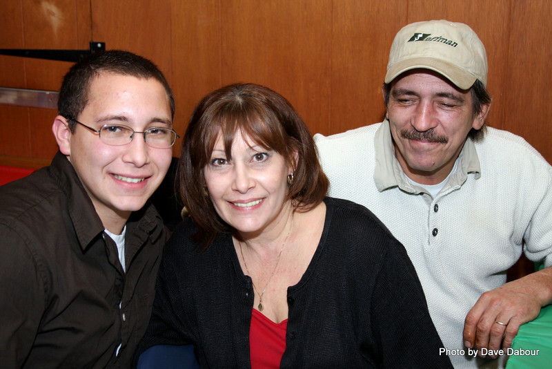 Tim with his proud Mom and Dad