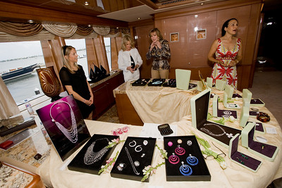 2008 21st Showboats International Rybovich Marina Rendezvous. G International Jewelry Private Collection aboard M/Y Linda Lou.